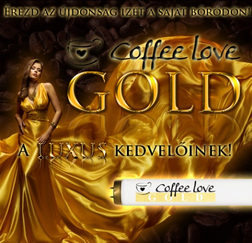 Coffe Love Gold szolárium cső
