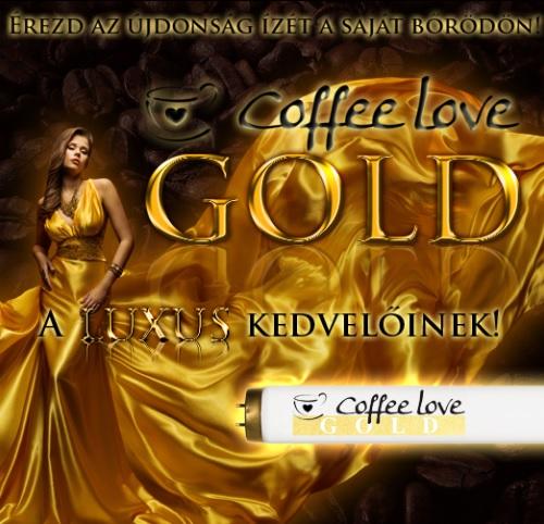 Coffe Love Gold szolárium cső